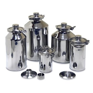 Stainless Containers (1 to 30 Litres) with GL45 Internal Thread