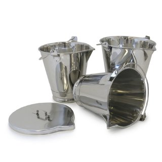 Buckets With Spouts (316L Stainless)