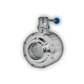 Ball valve 2 with triclamp connections DN50 DIN 32676